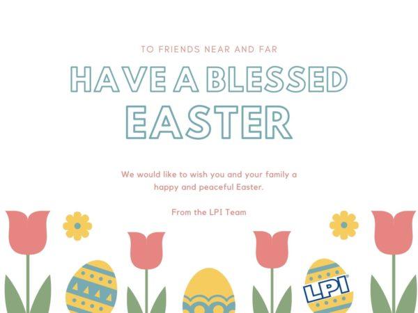 Cream Easter Eggs Easter Card (1)