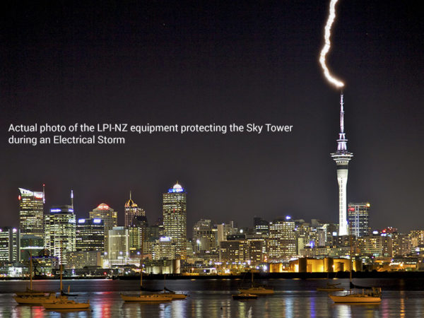 Sky Tower surge-and-lightning